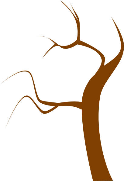 408x592 Brown Tree Clip Art
