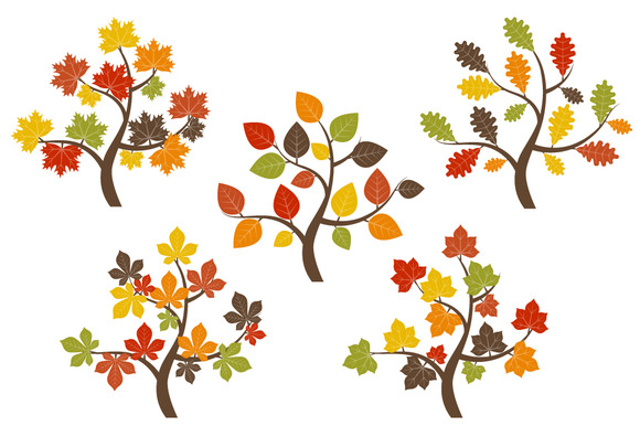580x386 Check out Fall Trees Clip Art by LoveGraphicDesign on Creative