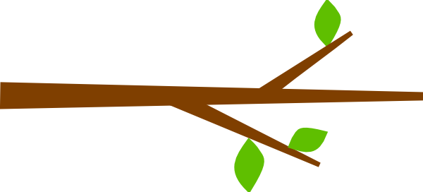 600x272 Leaves clipart tree limb