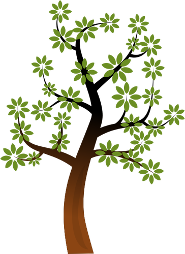 364x500 Simple spring tree branch vector clip art Public domain vectors
