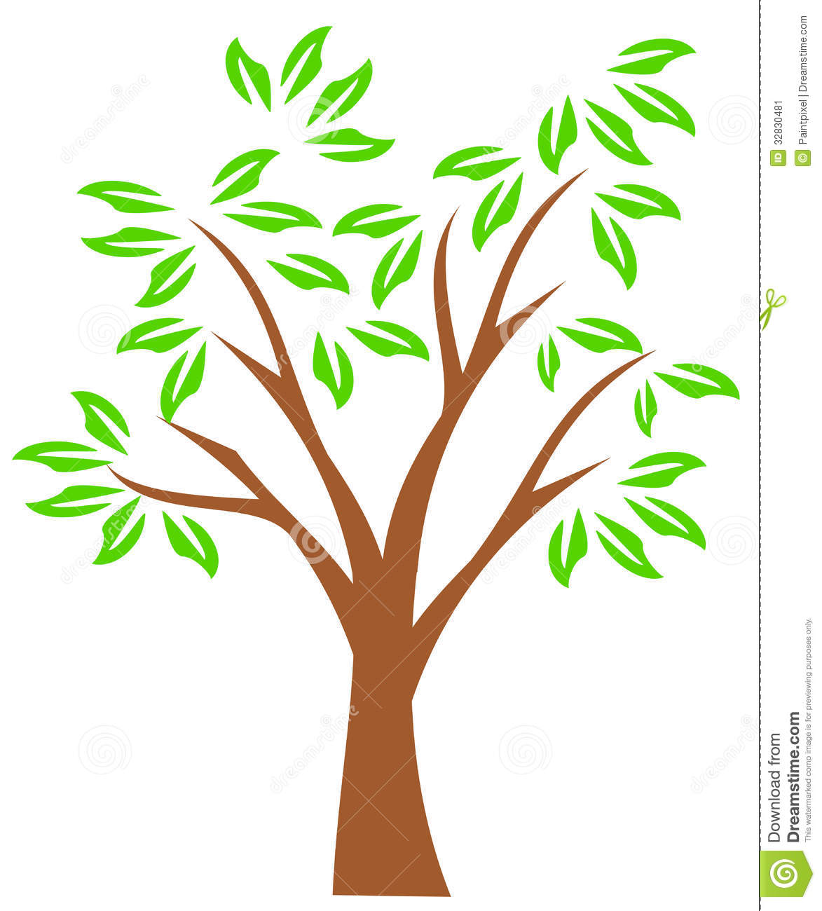 1173x1300 Tree with tree branches clipart