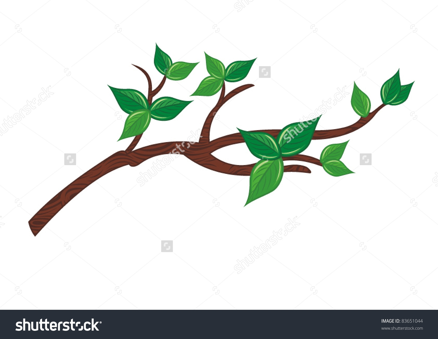 1500x1160 Branch Clipart Green Tree