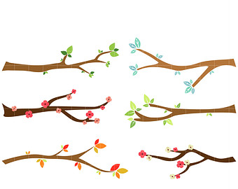 340x270 Christmas Tree Branches Clipart Digital Vector Branch Owl