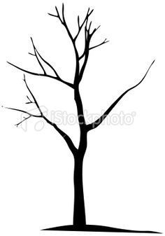 236x337 Deciduous Bare Tree With Empty Branches Black Silhouette Isolated