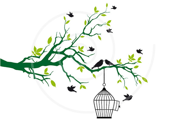 570x399 Decorated Tree Branches Clip Art – Cliparts
