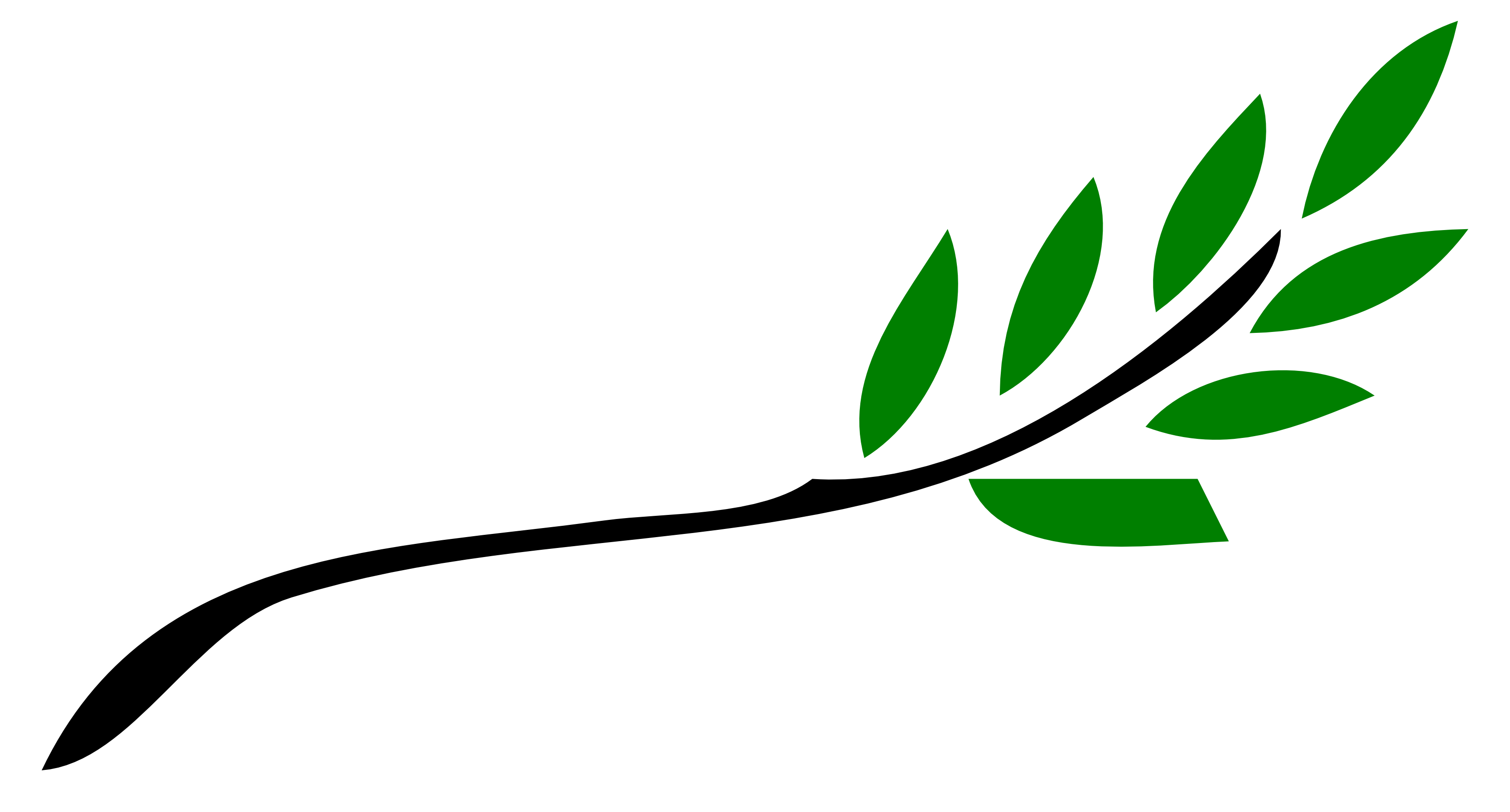 3333x1793 Tree Branch with Leaves Clip Art – Cliparts