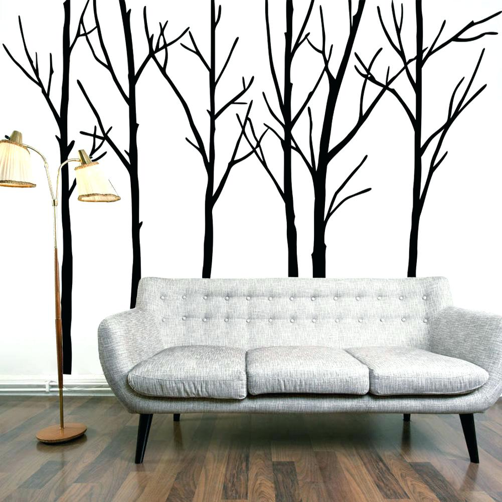 1001x1001 Wall Decor Enchanting Ivy Leaves Tree Branches Birds Wall Art