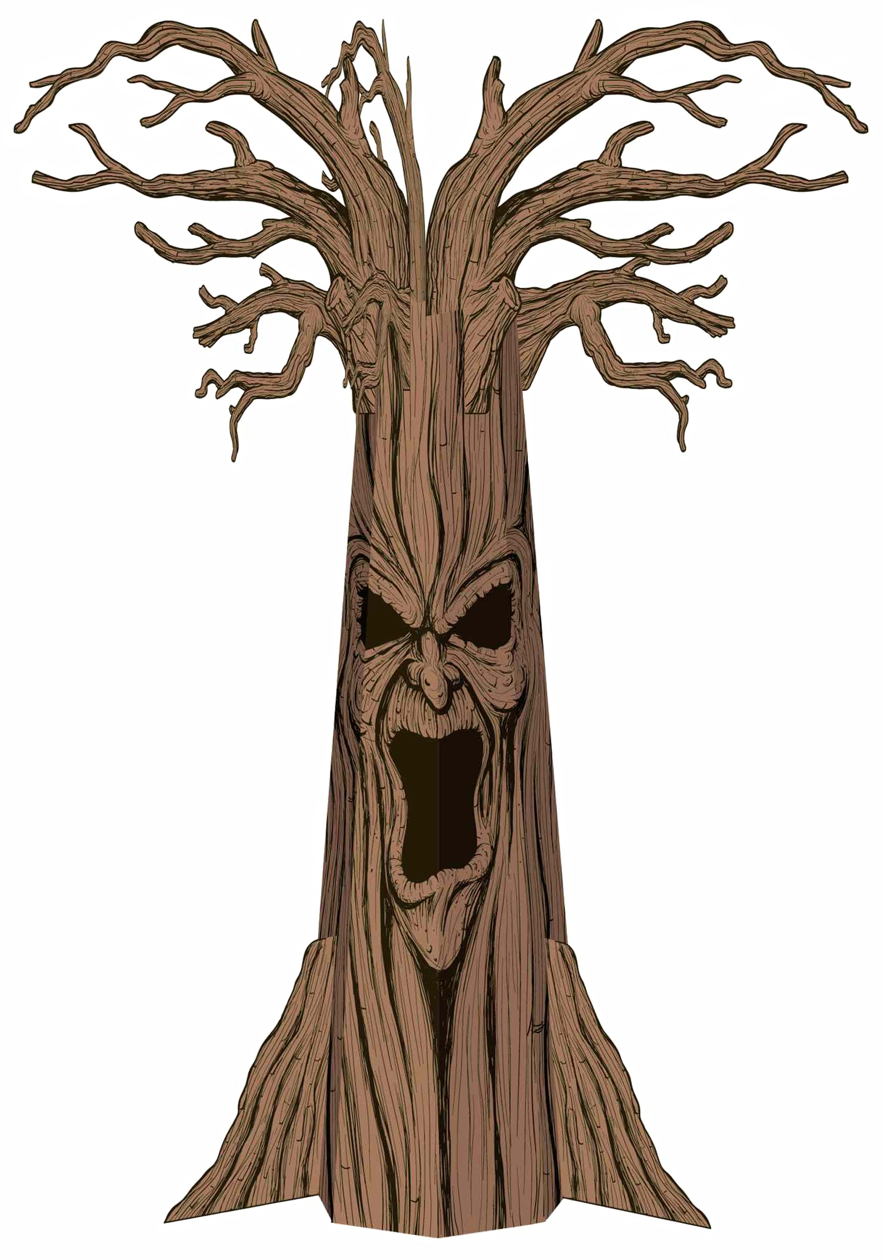 1750x2500 Evil Tree Trunk With Branches Clipart Clipartfox 2