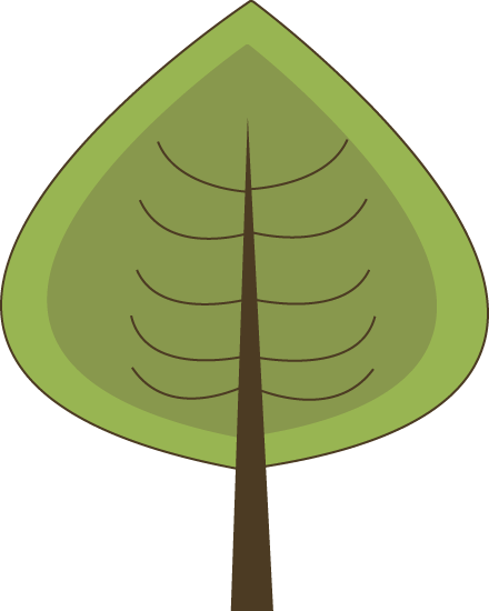 440x550 Modern Green Tree Clip Art