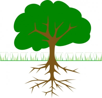 425x407 Tree Branches And Roots Clip Art Vector Clip Art Free Vector Free
