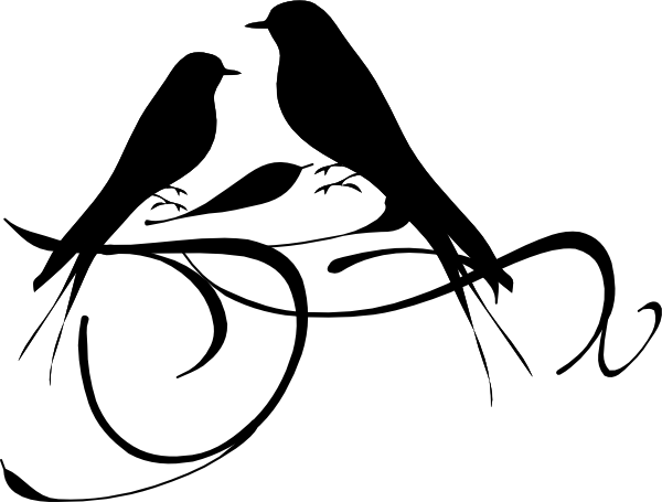 600x455 Birdhouse Clipart Black And White