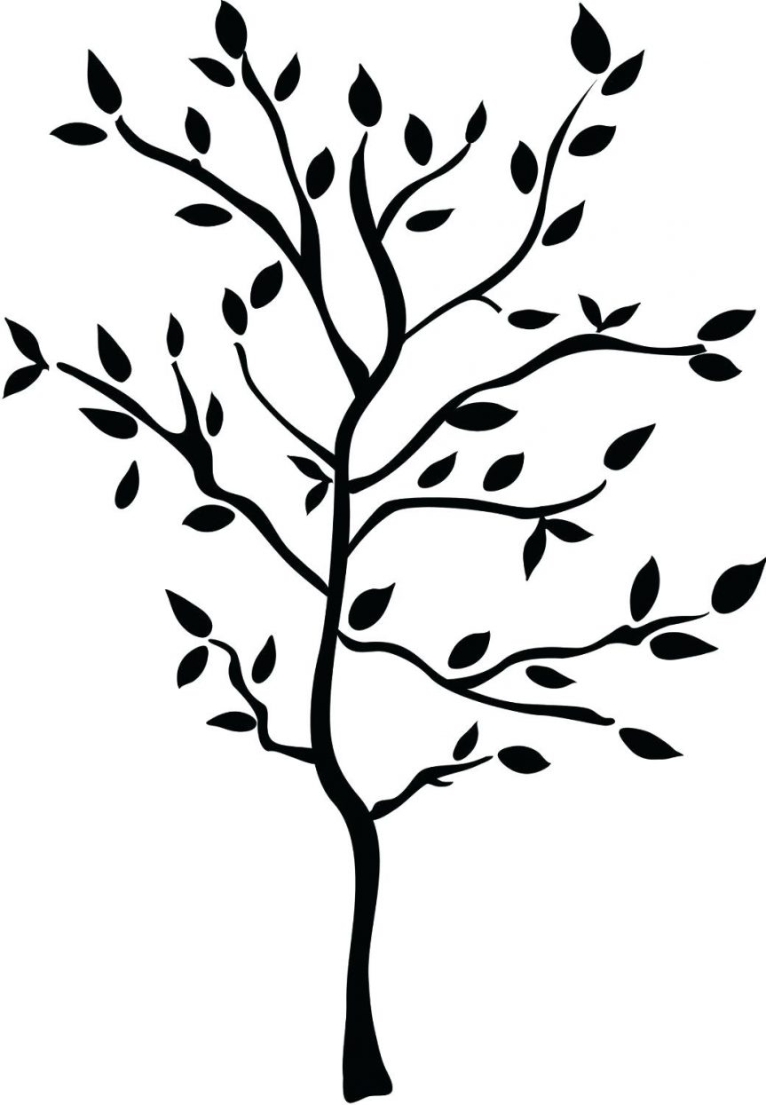 863x1245 Cartoon Trees With Branches Library Outline Of Tree Roots Clip Art