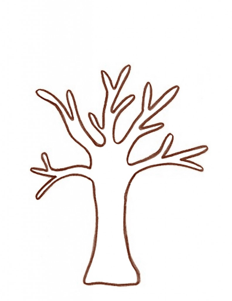 791x1024 Printable Brown Tree Branch Template Clipart Best Best Template
