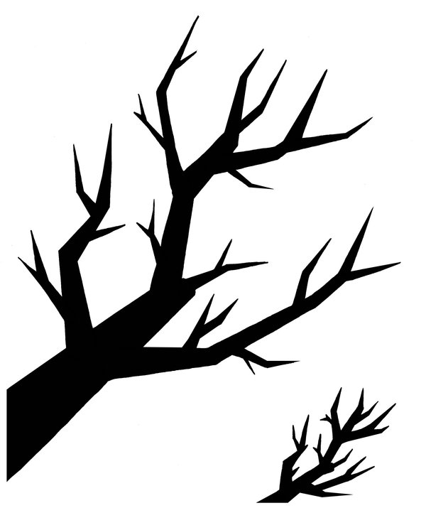 600x715 Tree Branch Silhouette By Hakuyako