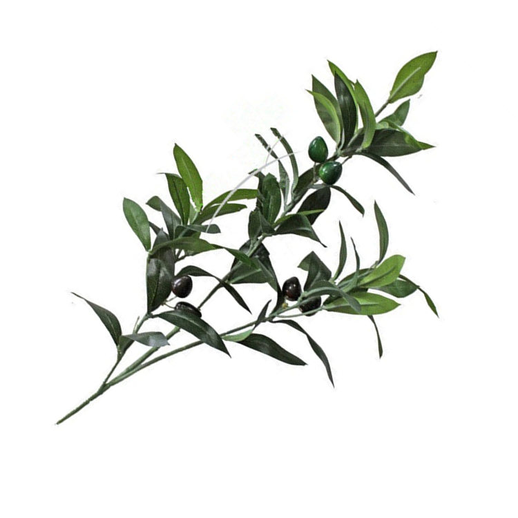 750x750 Artificial European Olive Tree Branches With Olive Fruit Leaves