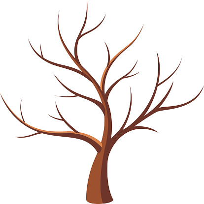 414x415 Clipart Bare Tree Branches