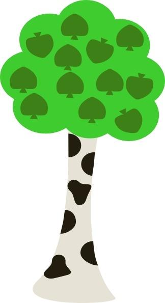 324x595 Cartoon Tree clip art Free vector in Open office drawing svg