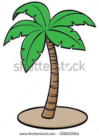 341x470 Drawn Palm Tree Cartoon