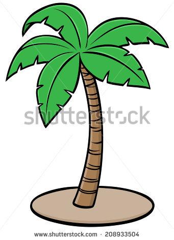 341x470 Drawn palm tree cartoon