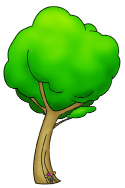250x375 A Cartoon tree that anyone can draw