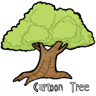 Tree Cartoon Drawing Free Download Best Tree Cartoon Drawing On