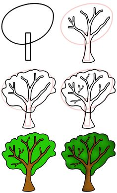 236x388 How to Draw Trees