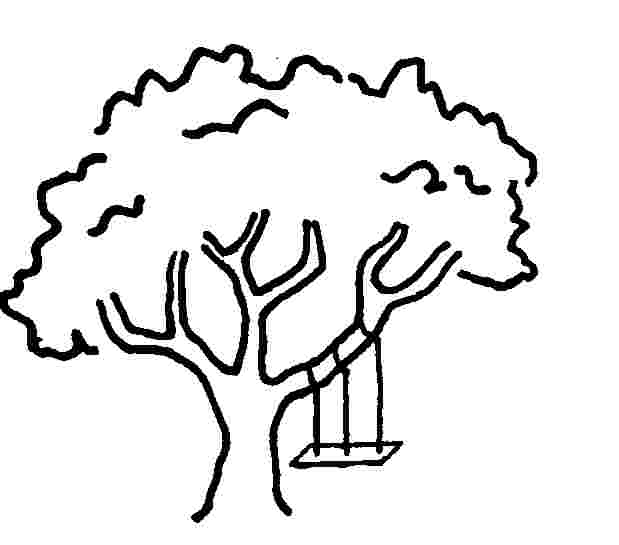 619x545 Tire Swing Clipart Tree Drawing