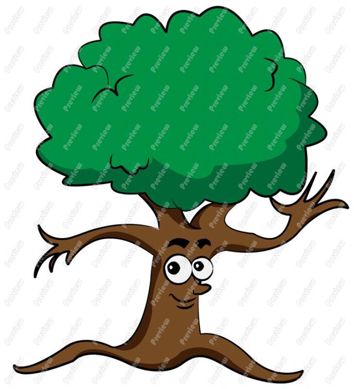 728x800 Tree Character Clip Art