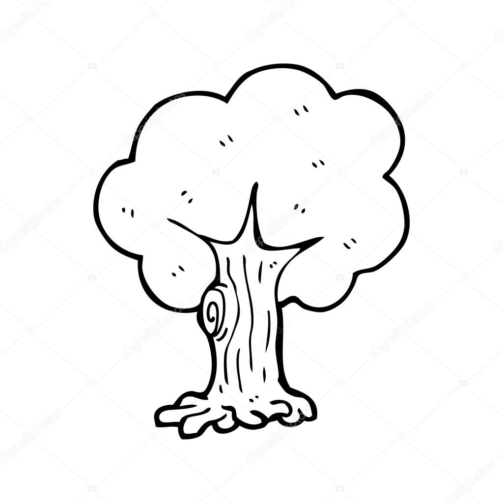 1024x1024 Tree Cartoon Stock Vector Lineartestpilot