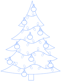 200x268 Cartoon Christmas Tree Step By Step Drawing Lesson