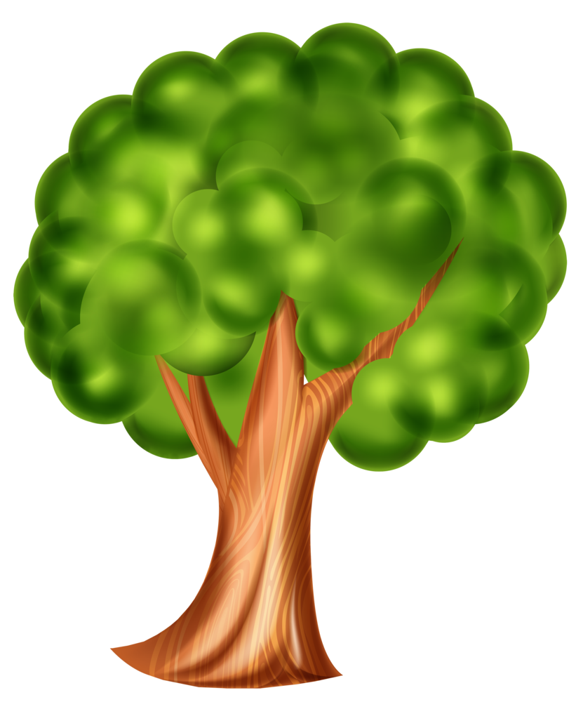 831x1000 Cartoon Tree Png Clip Art 3d Effect