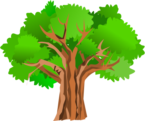 500x417 Clipart Of Trees