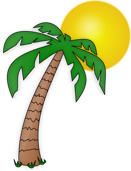 456x595 Palm Tree Clip Art