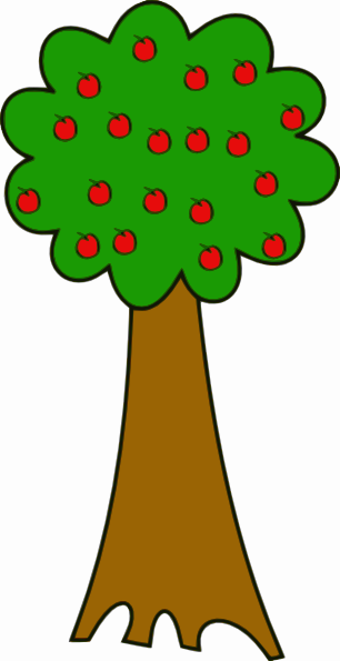 306x595 Tree With Fruits Clip Art