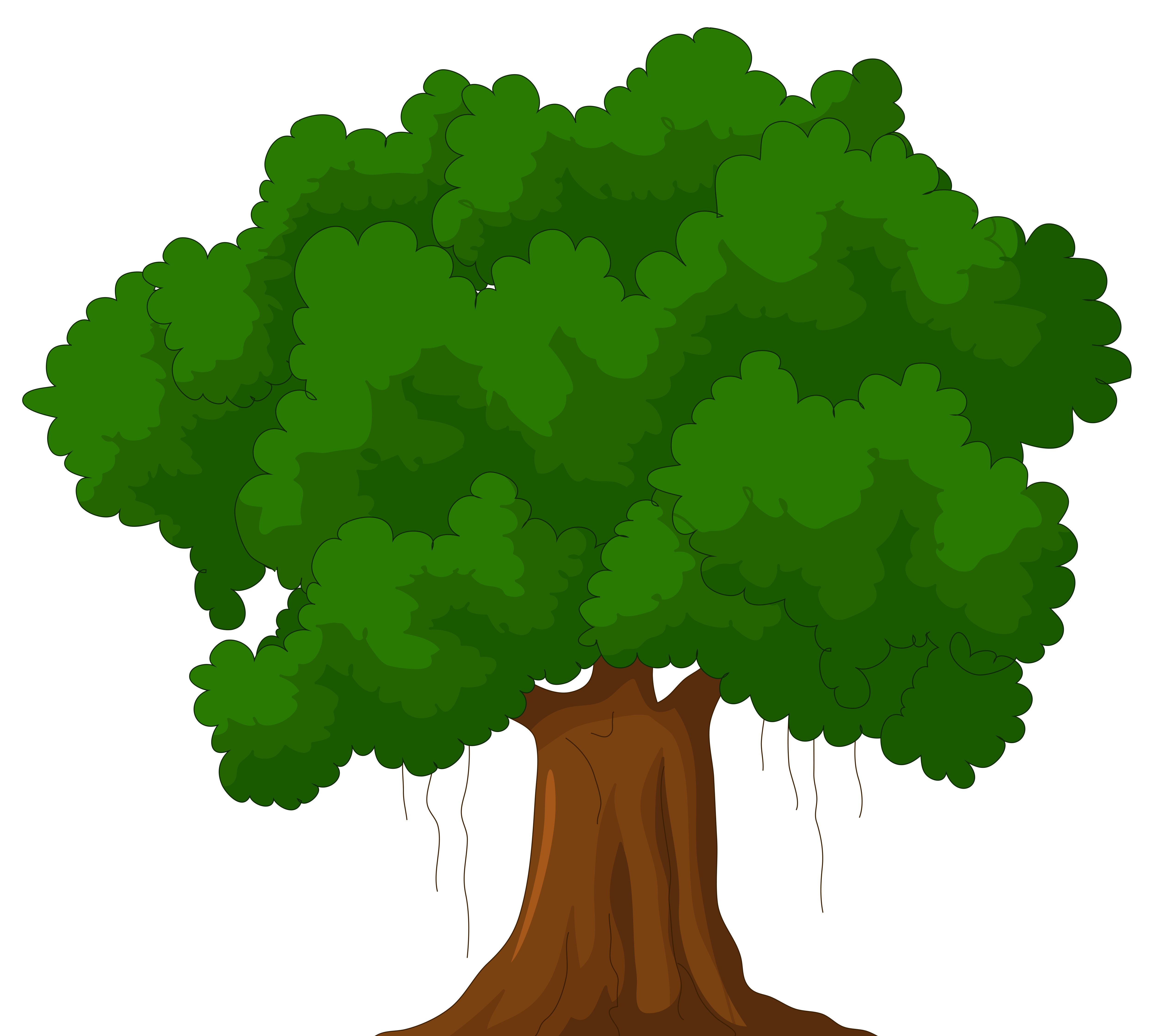 4992x4478 Cartoon Green Tree Png Clipart