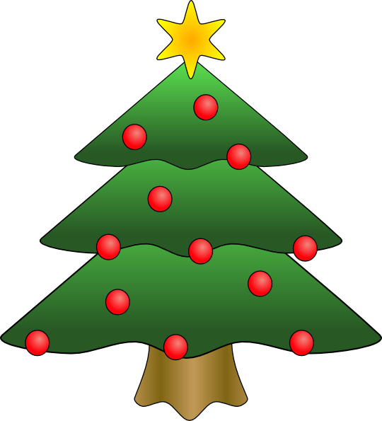 540x595 Cartoon Christmas Tree Clipart