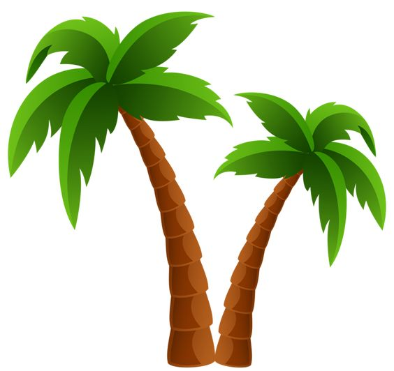 564x532 Surfboard Palm Tree Clipart