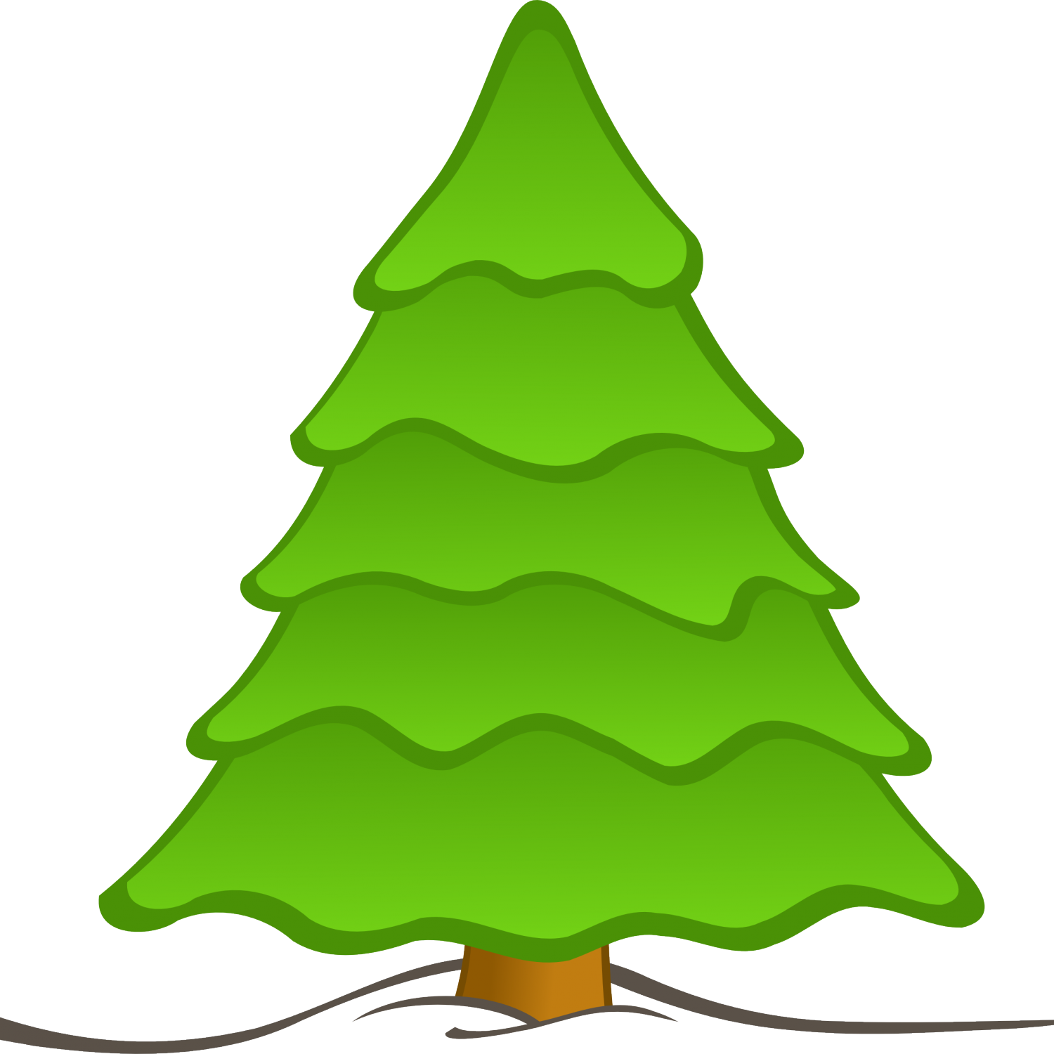 1500x1500 Tree Cartoon Png Cartoon Christmas Tree, Cartoon Christmas Tree