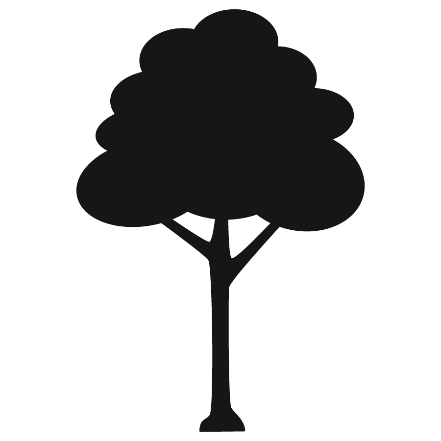900x900 Tree Icon Set Cute Trees Cartoon Illustration. Nature Collection