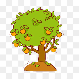 260x261 Cartoon Orange Tree, Cartoon, Orange Tree, Orange Png Image