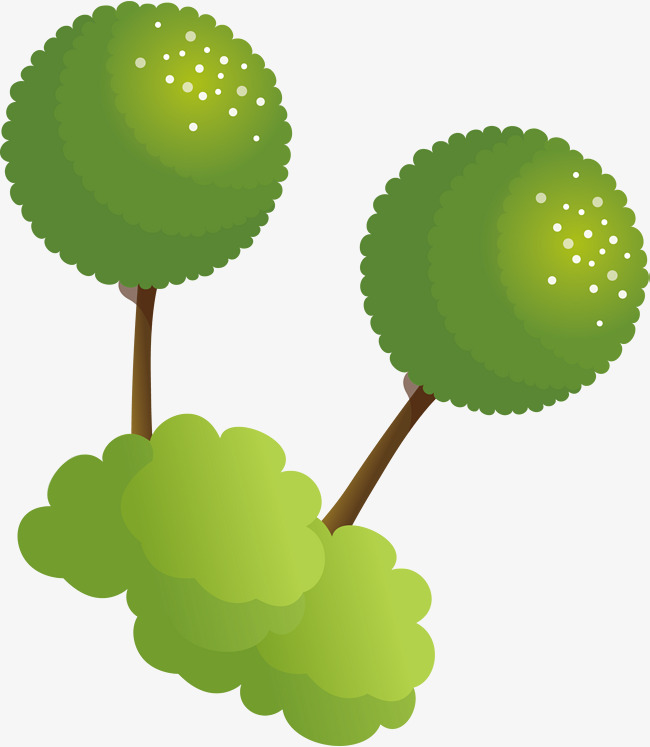650x747 Green Tree Png Vector Element, Tree Vector, Plant, Cartoon Png