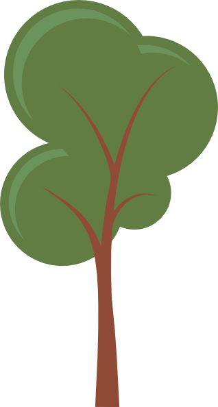 318x594 Cartoon Tree Clip Art