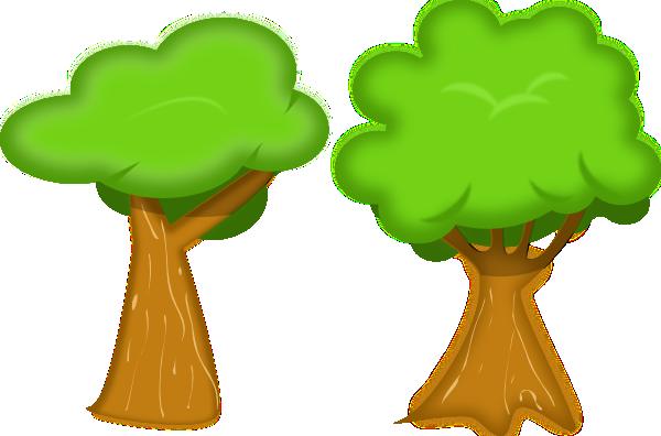 600x396 Soft Trees Clip Art Free Vector 4vector