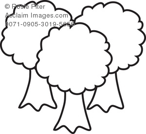 300x275 Clipart Illustration of Trees