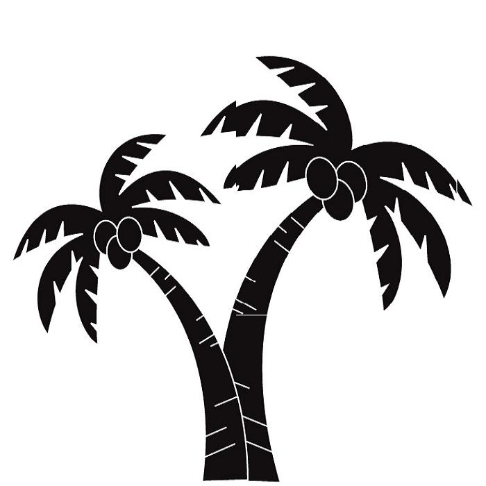 700x700 Tree clipart black palm