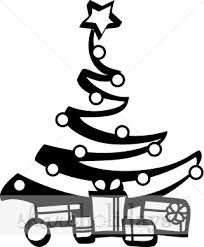 204x247 black and white christmas tree clip art