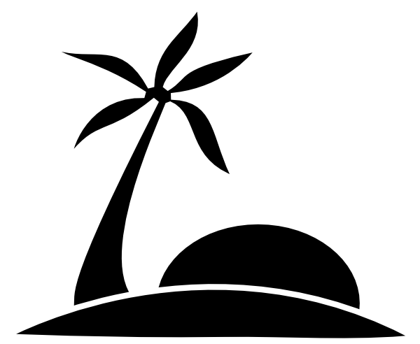 600x492 Black Palm Tree Clipart