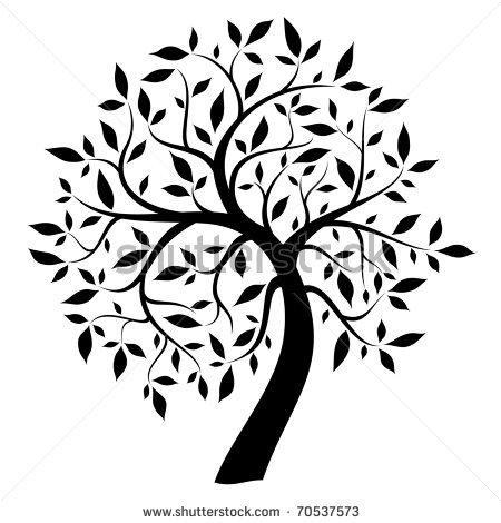 450x470 Black Tree Clipart