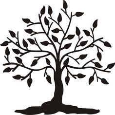 236x236 Clipart Trees Black And White Free Clipartdeck