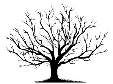 380x281 Cool Black And White Tree Clipart